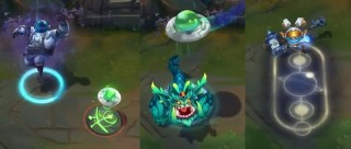 Preview de skins astronautes : Bard, Gnar, & Poppy