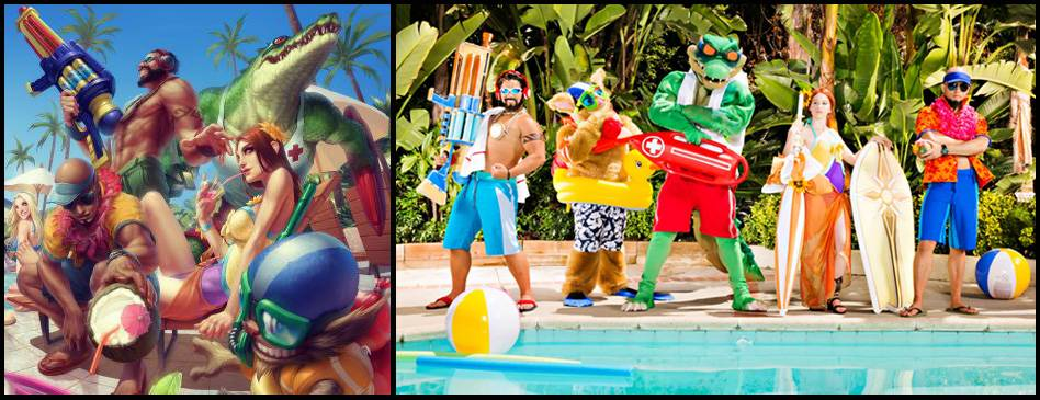 Les skins pool party... en vrai !