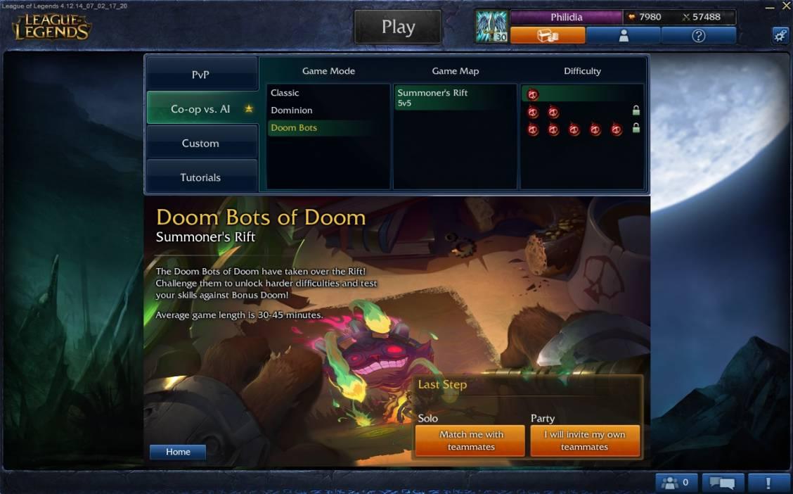[PBE] Présentation du mode Doom Bot