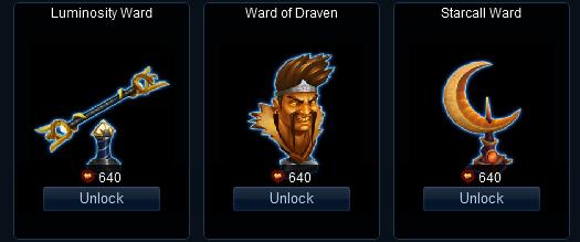 Nouveaux skins de wards sur le PBE